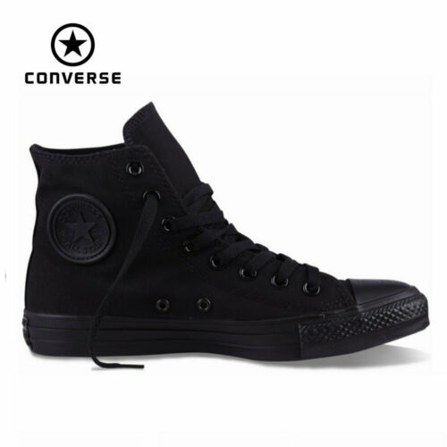 Converse Chuck Taylor Star Black Mono Youth Boys Girls Hi Top Kids Shoes Sizes