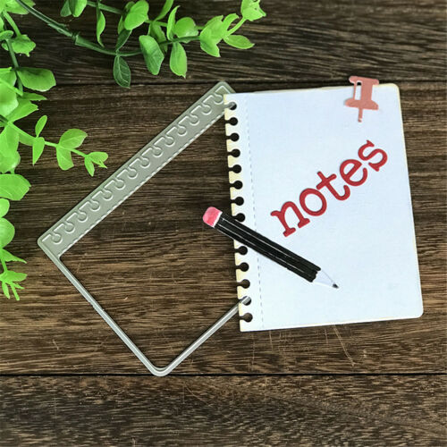 Notebook Learning Multiple Metal Cutting Dies For DIY Scrapbooking Paper CardLD