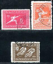 BULGARIEN 1933 255-257 gestempelt 175€(A9230
