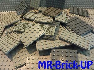 Baukästen & Konstruktion LEGO Bau- & Konstruktionsspielzeug Lego 7 Stück 3030 schwarz Platte 4x10 Bauplatte Star Wars