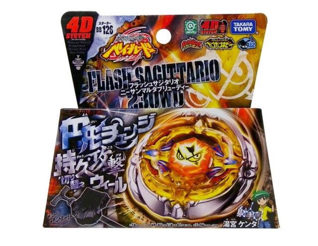 Takara Tomy Japanese Beyblade Metal Fight BB126 Flash Sagittario 230WD+LAUNCHER