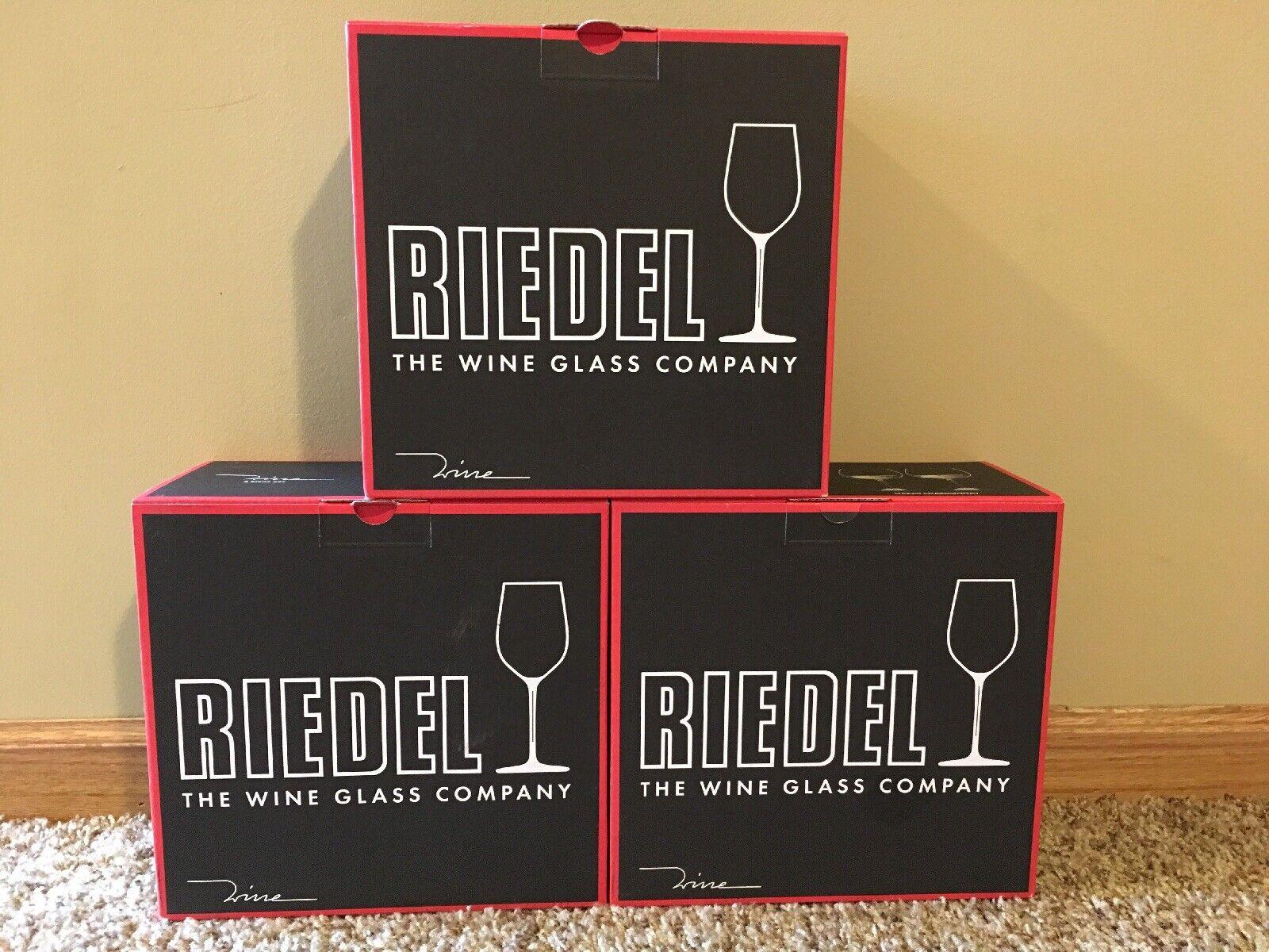 Nouveau  Riedel 6pc. Oaked Charfemmesy verres à vin  Verre Cristal Fabriqué en Allemagne