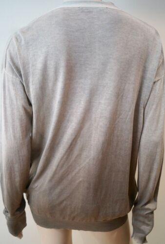 Cardigan cotone grigio con Mccartney a Stella Ombre 100 collo Top beige V Uk12 e 42 qP85w