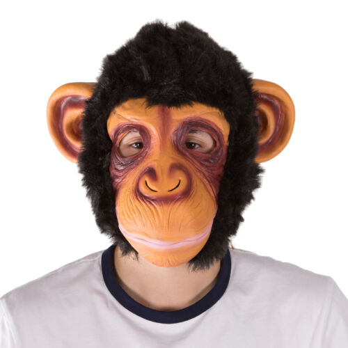 Funny Realistic Animal Monkey Latex Full Face Mask Fancy Dress Costume Halloween