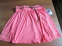 $24 Macy's Grane Juniors Belted Flare Solid Skirt X-large Salmon/coral
