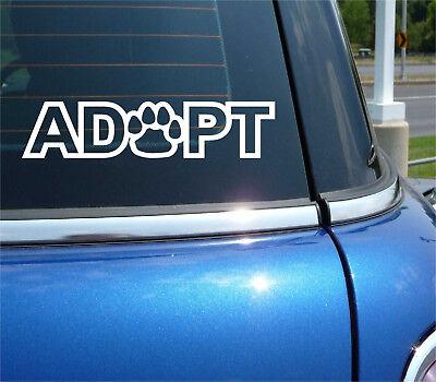 ANIMAL RESCUER Sticker Vinyl car Decal dog wildlife pet cat stray adopt business