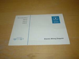 Superb Mercedes S Class W115 200 220 240 D Owners Electrical Wiring Wiring 101 Eattedownsetwise Assnl