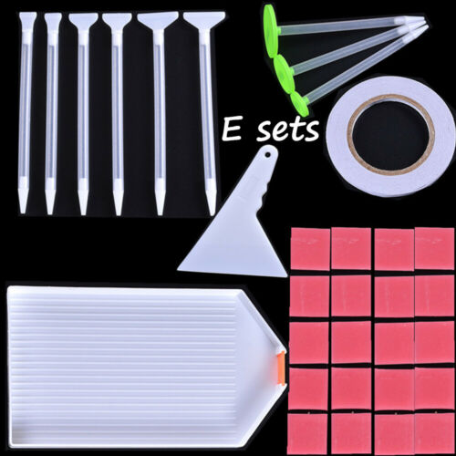 Plastic Tray 5D Diamond Painting Kits Corrector Point Drill Pen Embroidery