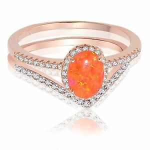 Image Is Loading 18k Rose Gold Oval Mexican Fire Opal Engagement