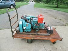 Onan Electric Plant Generator On Rolling Cart 120240 Volt 65nh 3cr12012d