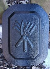 """Garden tools wall plaque mold plaster concrete mould 7"""" x 5"""" x 3/4"""" thick"""