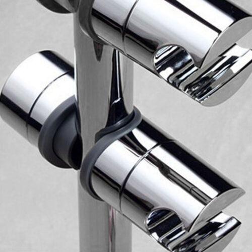 Adjustable ABS Chrome Shower Rail Head Slider Holder Bracket Slide Clamp Tool !
