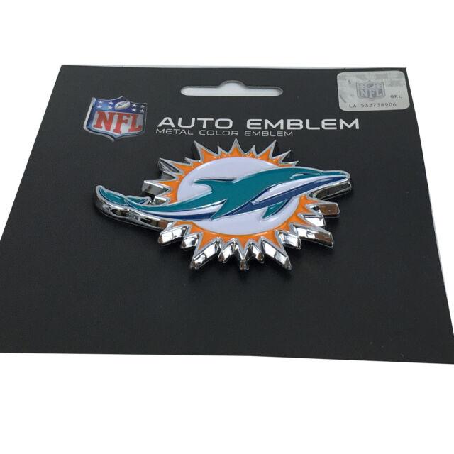 New NFL Miami Dolphins Auto Car Truck Heavy Duty Metal Color Emblem