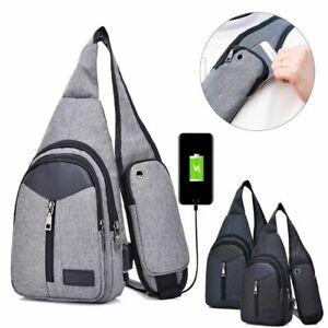 Men-Nylon-Shoulder-Bag-Sling-Chest-Pack-USB-Charging-Sports-Crossbody-Handbag