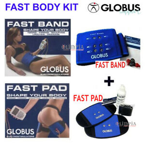 GLOBUS-FAST-BODY-KIT-Fast-Band-Fast-Pad-ELETTRODI-ADDOME-GLUTEI-SCHIENA