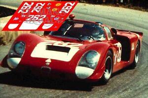 Calcas Alfa Romeo T33/2 Targa Florio 1969 262 1:32 1:43 1:24 1:18 33 Slot Decals Design Professionnel