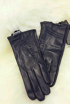 Ladies Purple Leather Gloves Beautiful soft nappa leather