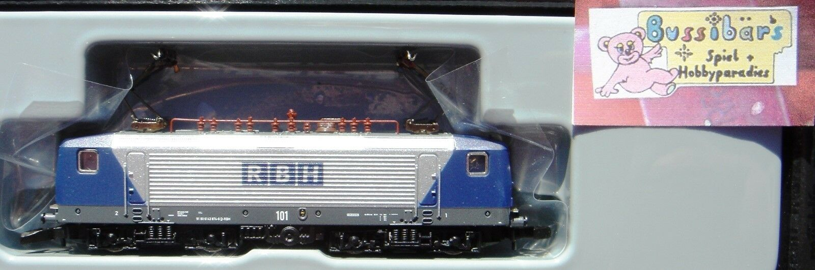 Z 88435 elektrolokomotive BR 143 RBH Logistics GmbH-NUOVO