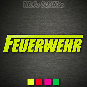 14437 Feuerwehr Aufkleber 145x32mm Neon Langes F Freiwillige