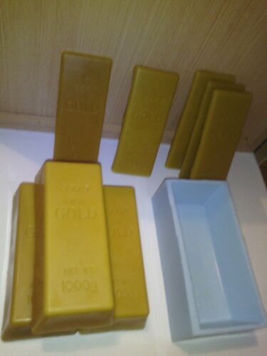 INGOT MOLD FAKE GOLD BAR SILICONE MOLD FOR GOLD BAR FROM BEE WAX SOAP MOLD