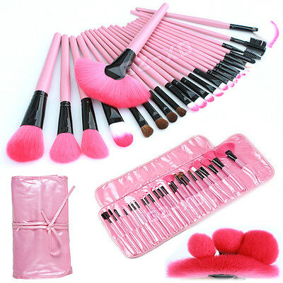 24pcs Professional Make up Brush Set Foundation Blusher Face Powder Brushes Kit