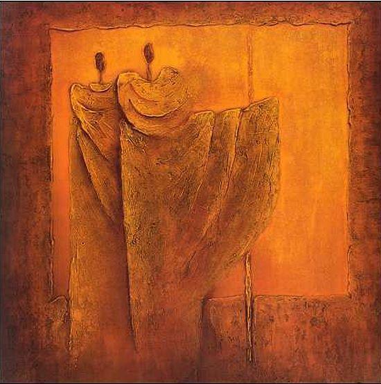 Liesbeth Optendrees  Prominent I Keilrahmen-Bild Leinwand Abstrakt Figuren