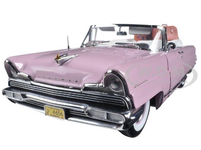 1956 LINCOLN PREMIERE OPEN CONgreenIBLE PINK 1 18 PLATINUM EDITION SUNSTAR 4656
