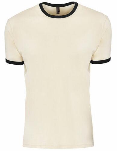 Messieurs Ringer T-shirt Été Chemise Coton Col Rond Contrast Thé konstrastfarbe