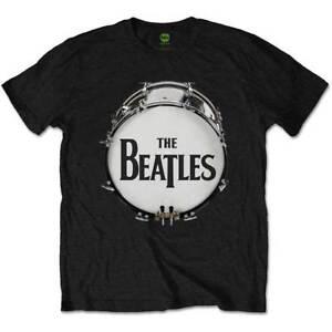 The-Beatles-Original-Drum-Skin-Official-Merchandise-T-Shirt-M-L-XL-Neu