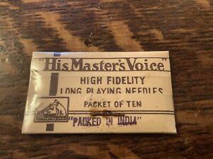 Vintage HMV  'His Master's Voice' Gramophone Needle Packet Sealed C. 1920's