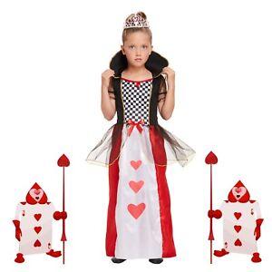 Bambino Regina Di Cuori Costume Alice nel Paese delle Meraviglie Ragazze libro settimana
