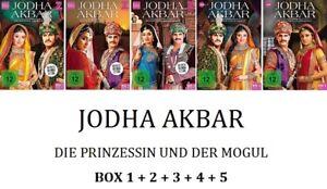 Jodha-Akbar-Die-Prinzessin-und-der-Mogul-Box-1-2-3-4-5-5x3-DVD-NEU-OVP