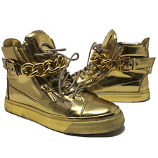 d217688dfea85 item 1 Giuseppe Zanotti Mirrored Leather Chain High Tops Sneakers Sz 42 Gold  Athletic -Giuseppe Zanotti Mirrored Leather Chain High Tops Sneakers Sz 42  Gold ...