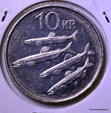 Iceland, 10 Kronur, 1987, Nickel   KM:29.1   AC71
