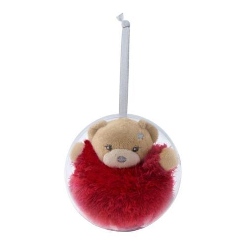 Kaloo Mini Soft Plush Teddy Bear Noël Boule Arbre Décoration Nouveau