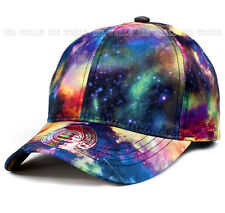 Galaxy Space hat cap Rainbow color Curved bill Baseball cap Adjustable Most size