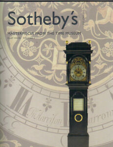 Sotheby S Masterpieces Time Museum Part 4 Vol 1 Watch Clock Auction Catalog 2004 Ebay