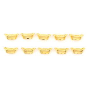 10pcs-Decoracion-China-del-Ornamento-de-Buena-Suerte-del-lingote-de-oro-chino