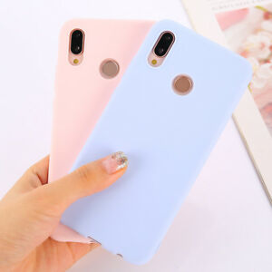info for 9bf6a 22cdd Details about Candy Color Case for Huawei P20 Mate 20 Lite Honor 7C 7A Pro  Soft Silicon Cases