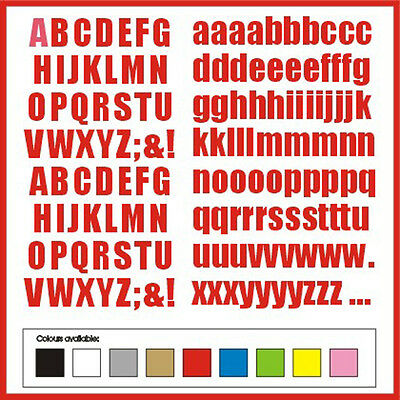 SELF ADHESIVE LETTERS stickers graphics 15mm high vinyl alphabet set Handstyle