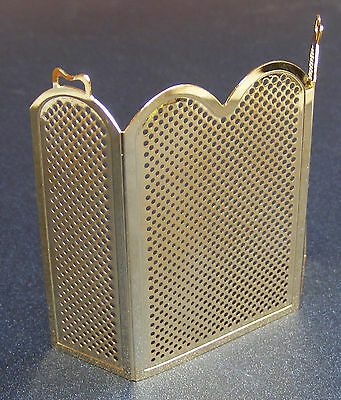 1:12 Scale Metal Fire Screen Guard Tumdee Dolls House Miniature Accessory 087