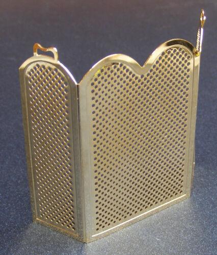 1:12 scala in ottone FUOCO Screen Guard tumdee Casa delle Bambole Accessorio in miniatura in metallo