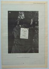 echo & the bunnymen Ian McCulloch 1989 Poster Ad Proud To Fall