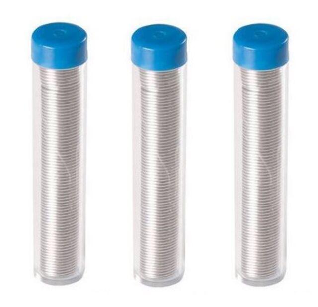 3x 17g 1.0mm 60/40 Tin lead Solder Wire Rosin Core Soldering 2% Flux Reel Tube
