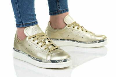 adidas Originals Womens Stan Smith New Bold snake printed Trainers Gold Metallic | eBay