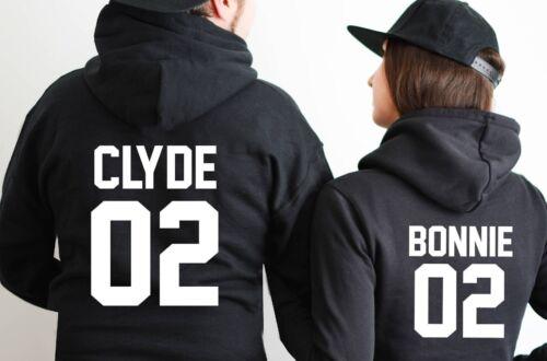 LOT de 2 SWEATS A CAPUCHE BONNIE /& CLYDE