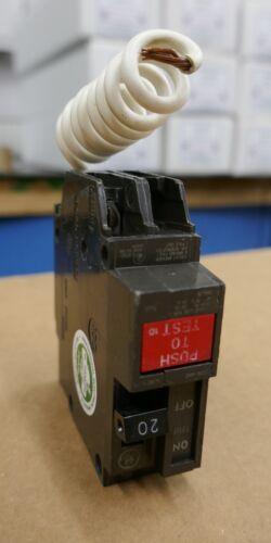 20A 120V GE THQL1120GF Molded Case 1P 1PH GFI Circuit Breaker Q-Line WARRANTY