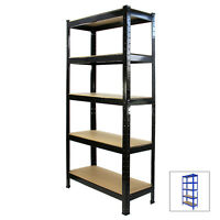 Racking Storage Shelving Heavy Duty Garage 5 Tier 75cm Steel Shelves Warehouse
