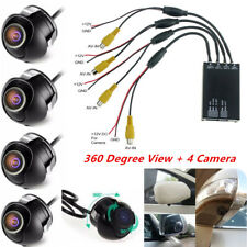 Car Parking Panoramic View Rearview 4 Way Camera Control Box System 360 Degree