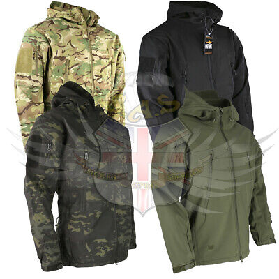 TACTICAL Patriot Softshell  HOODED Jacket BTP MTP CAMO Military Water Resistant
